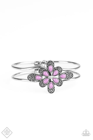 Paparazzi Accessories Go With The FLORALS Purple Bracelet