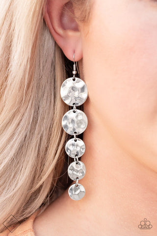 Paparazzi Accessories Rippling Resplendence Silver Earrings
