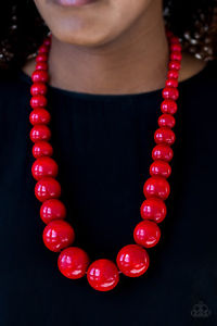 Paparazzi Accessories Effortlessly Everglades Red Necklace Set