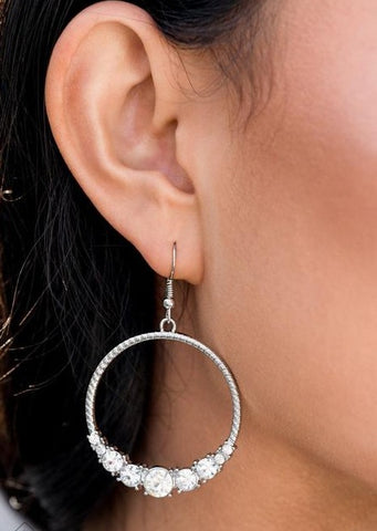 Paparazzi Accessories Self-Made Millionaire White Earrings