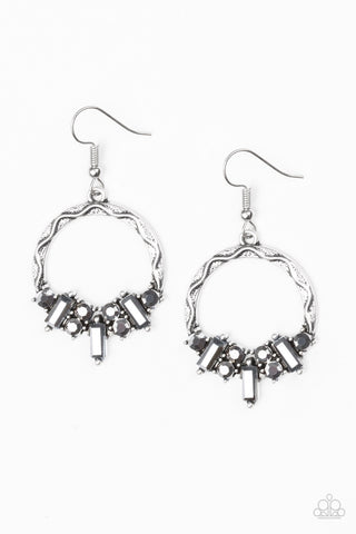 Paparazzi Accessories On The Uptrend Silver Earrings