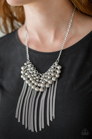 Paparazzi Accessories DIVA-de and Rule Silver Necklace Set