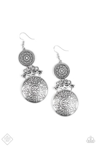 Paparazzi Accessories Garden Adventure Silver Earrings