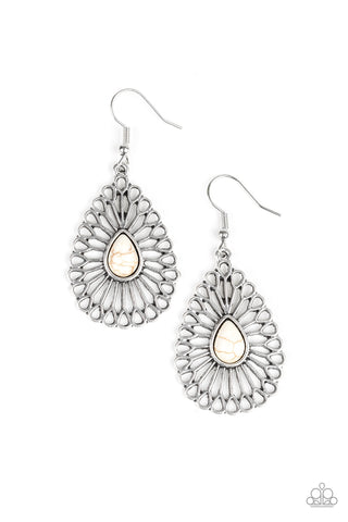 Paparazzi Accessories Simply Sedimentary White Earrings