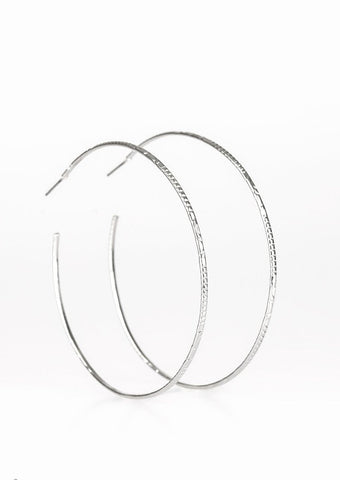 Paparazzi Accessories Sleek Fleek Silver Hoop Earrings