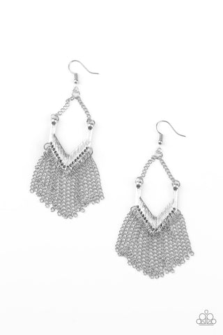 Paparazzi Accessories Unchained Fashion Silver Earrings