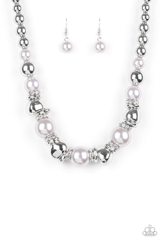 Paparazzi Accessories Hollywood HAUTE Spot White Necklace