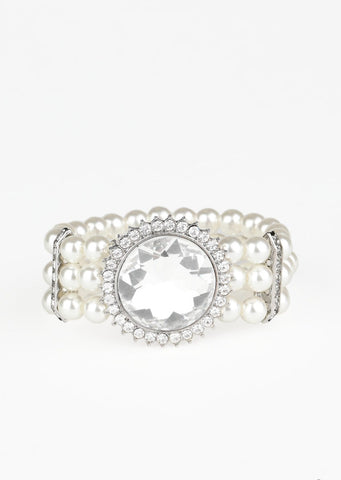 Paparazzi Accessories Speechless Sparkle White Bracelet