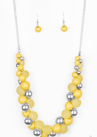 Paparazzi Accessories Bubbly Brilliance Yellow Necklace Set