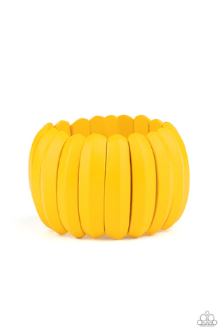 Paparazzi Accessories Colorfully Congo Yellow Bracelet