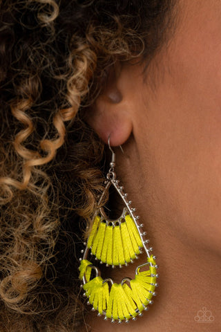 Paparazzi Accessories Samba Scene Yellow Earrings
