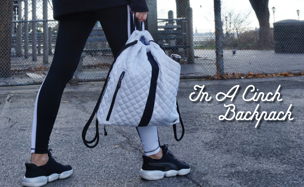 In a Cinch Backpack:  The Only Backpack for Athletes and Adventurers!