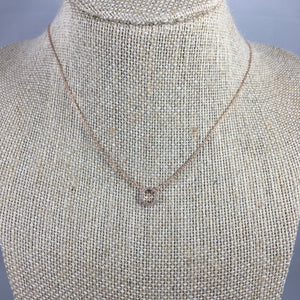 open circle necklace rose gold
