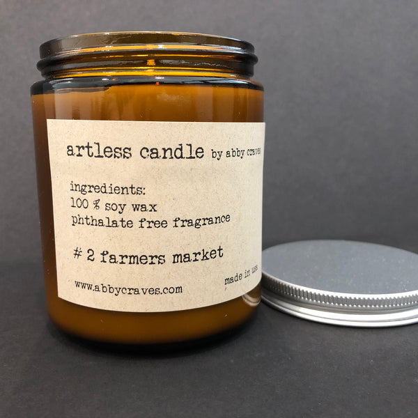 #2 farmers market- artless candle