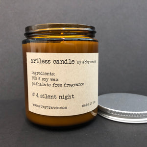 #4 silent night- artless candle