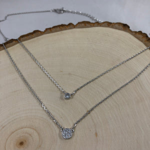 Double CZ Necklace