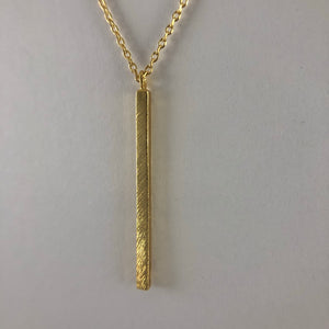 Gold Chic Bar Necklace