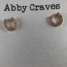 Rose gold horseshoe earrings