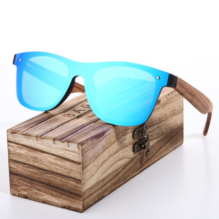 Blue Frameless Wood