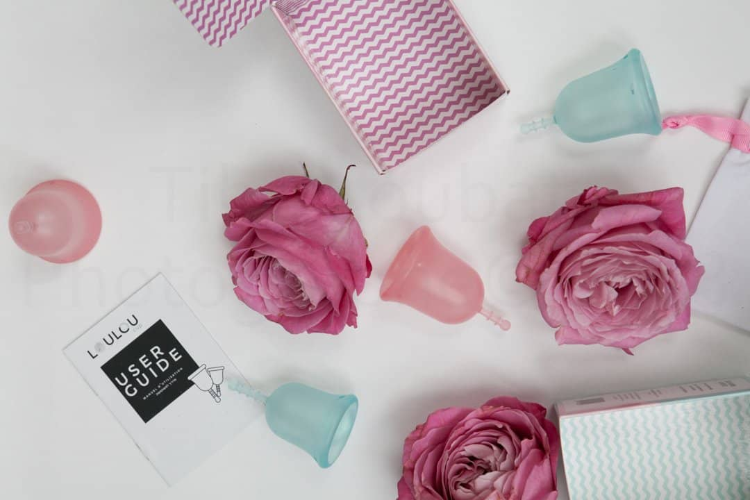 Louloucup Pink Classic + Organic Cotton Pouch
