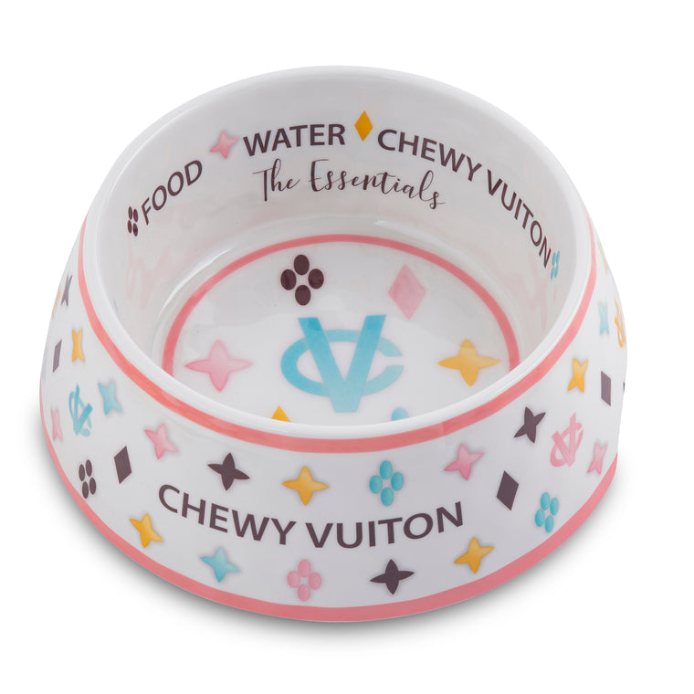 Chewy Vuiton Dog Bowl