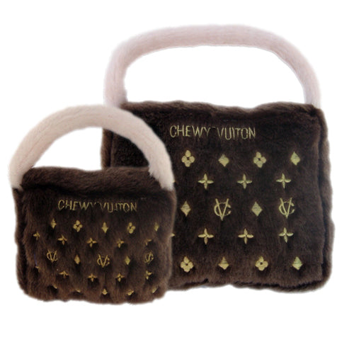 Chewy Vuiton Purse Toy (Brown)