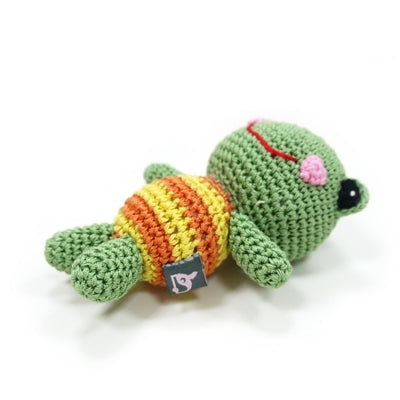 Frog Doll Knit Squeaker Toy