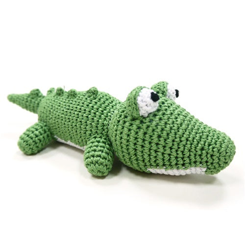 Alligator Knit Squeaker Toy
