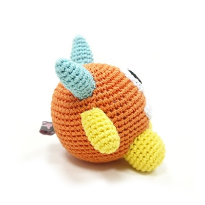 Monster Ball Knit Squeaker Toy