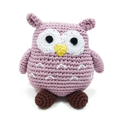 Owl Knit Squeaker Toy