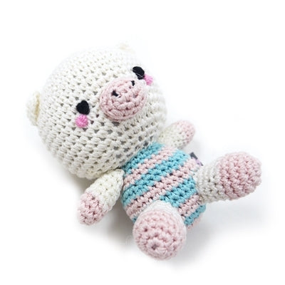 Pig Doll Knit Squeaker Toy