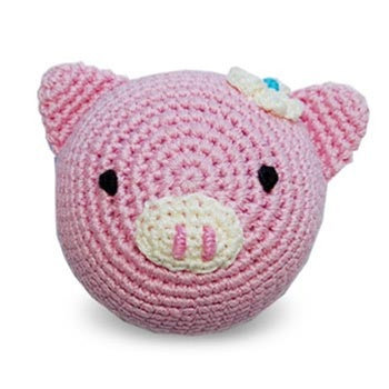 Piggy Knit Squeaker Toy
