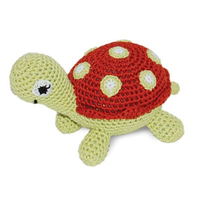 Turtle Knit Squeaker Toy
