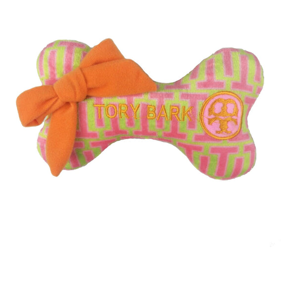 Tory Bark Plush Bone Toy
