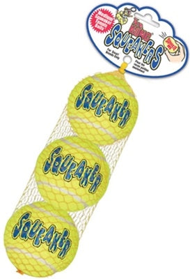 Air Kong Squeaker Balls 3pk in Net - Medium