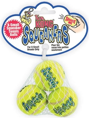 Air Kong Squeaker Tennis Balls - X-Small 3pk.