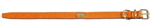 Flat Padded Calfskin Collar - Orange