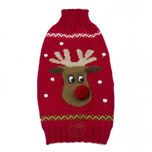Red Rudolph Alpaca Sweater