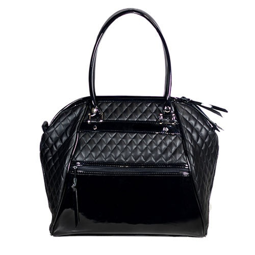 Black Quilted Luxe Haylee Bag