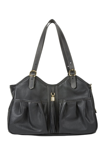 Petote Metro Bag - Midnight Leather With Tassel