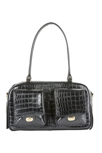 Petote Marlee Bag - Black Croco
