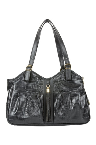Petote Metro Bag - Black Croco