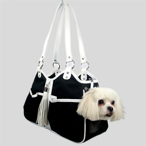 Petote Metro Bag - Black And White Tassel