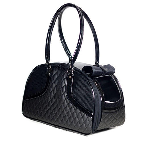 Black Quilted Luxe Roxy Bag
