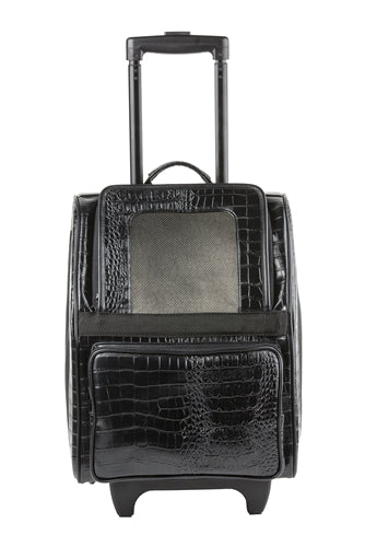 Petote Traveler Bag: Rio - Black Croco
