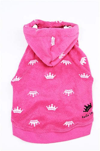 Royal Hoodie - Hot Pink Terry