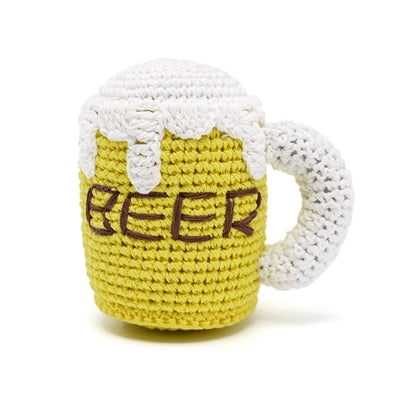 Beer Knit Squeaker Toy