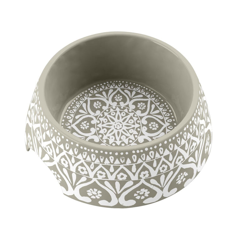 Boho Medallion Melamine Dog Bowl Collection