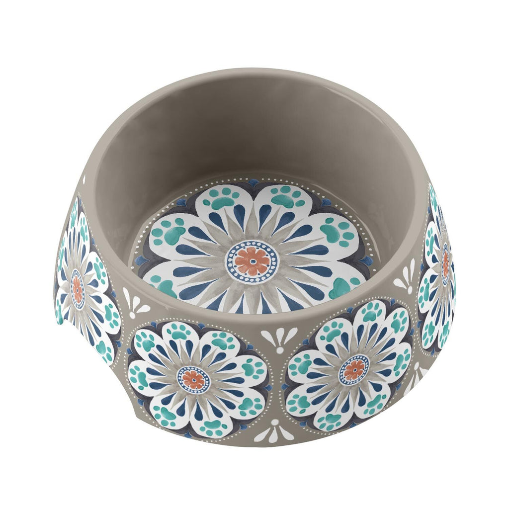 Carmel Medallion Melamine Dog Bowl Collection