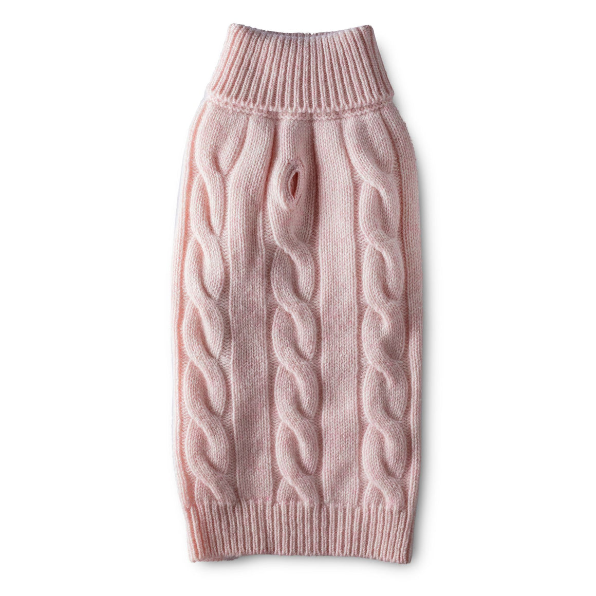 Cashmere Cable Turtleneck Sweater - Pink
